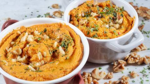 Receita Hummus de batata doce e nozes | Cooking Classes