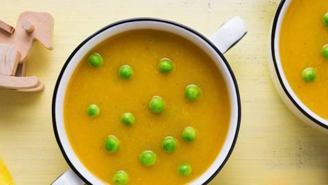 Receita Bebé e Criança - Sopa de Legumes com Pérolas Verdes