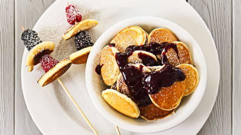 Receita Mini Panquecas com Coulis de Mirtilos | Cooking Classes