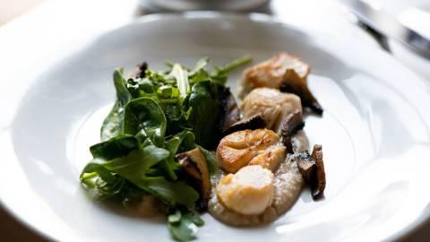 Receita Low Carb - Vieiras com Cogumelos e Puré de Castanhas