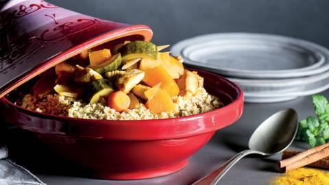Receita Sem Lactose - Couscous de Inverno com Laranja e Frango