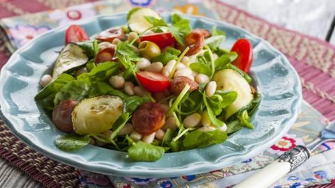 Salada de Agriões com Feijão Branco