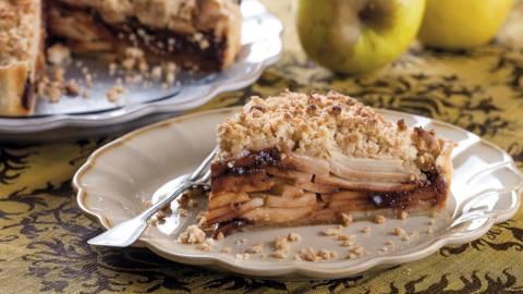 Tarte de maçã com chocolate
