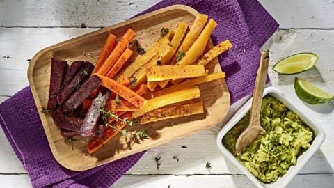 Receita Vegan - Snacks de Legumes no Forno com Guacamole