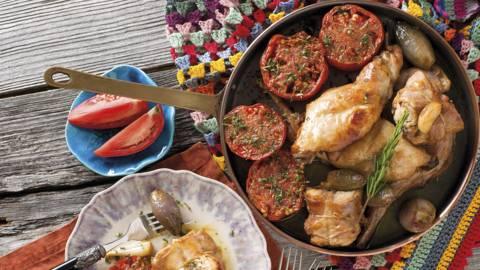 Cocotte de coelho com legumes