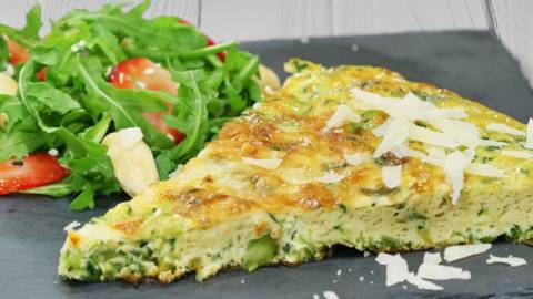 Receita Vegetariana - Frittata de Espargos e Curgete | Cooking Classes