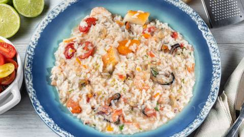Receita Arroz cremoso de marisco e peixe | Cooking Classes