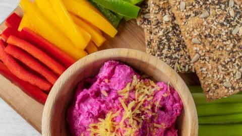 Receita Vegetariana - Pasta de Beterraba e Requeijão