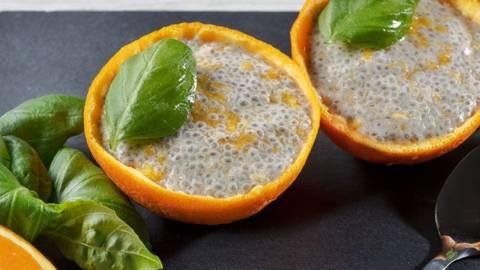 Receita Bio | Pudim de chia e laranja