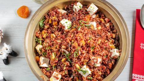 Receita Natal - Taboulé Natalício de Arroz Vermelho | Cooking Classes
