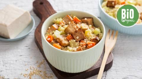 Receita Bio | Salada de Quinoa, Legumes e Tofu
