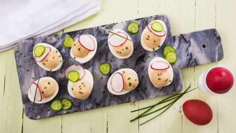 Receita Sem Lactose - Ovos Recheados com Atum