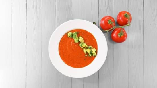 Receita Vegan - Sopa Fria de Tomate e Pimento Assado | Cooking Classes