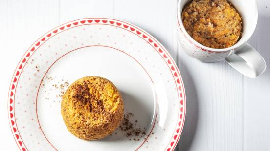 Receita Keto - Bolo de Cenoura na Caneca   Cooking Classes