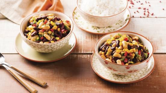 Receita Vegan - Chili de Dois Feijões e Milho
