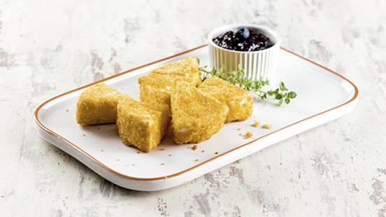 Receita Vegetariana - Camembert Panado com Compota de Mirtilos