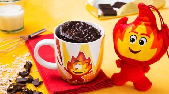 Receita Bebé e Criança - Chamas | Bolo de Chocolate na Caneca