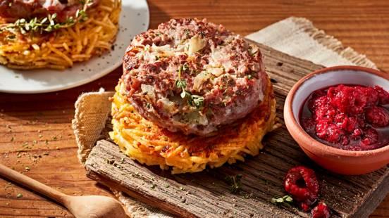 Receita Low Carb - Hambúrguer Gourmet com Chutney de Framboesas