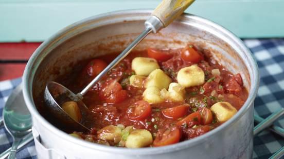 Receita Vegan - Sopa de Tomate com Nhoques