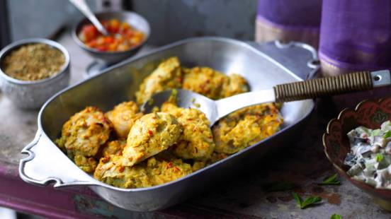 Frango Tandoori (frango marinado no forno)