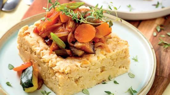 Grão-de-bico com legumes provençais