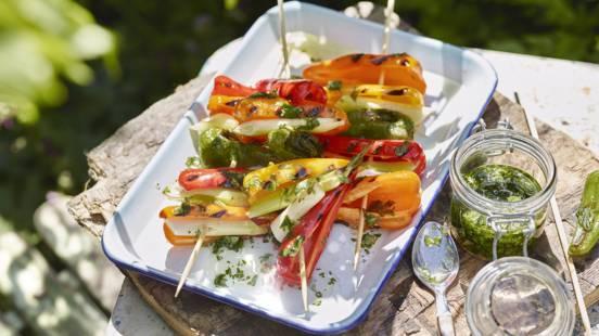 Receita Low Carb - Pimentos Grelhados com Óleo de Ervas Aromáticas