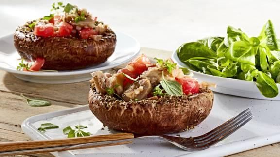 Receita Vegan - Portobellos Grelhados com Salada