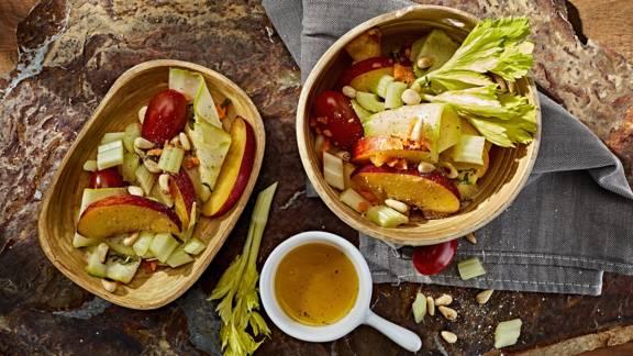 Receita Vegan - Salada de Aipo Com Nectarinas