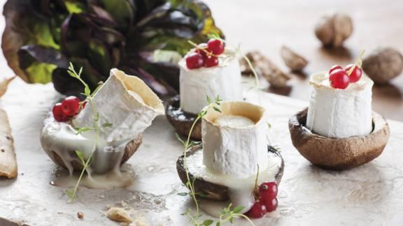 Receita Vegetariana - Portobello de Queijo e Cogumelos