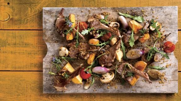 Receita Sem Lactose - Costeletas de Borrego com Alecrim e Legumes