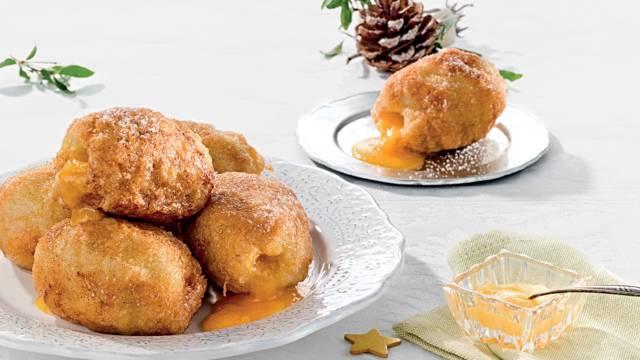 Receita Natal - Mini Rabanadas Recheadas com Ovos Moles