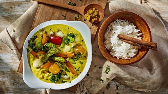 Receita Vegan - Caril de Legumes com Arroz Basmati