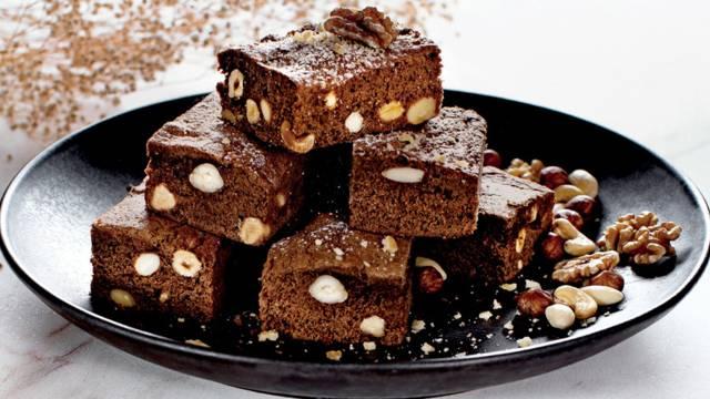 Brownie com frutos secos