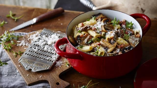 Receita Low Carb - Massa Guisada com Cogumelos