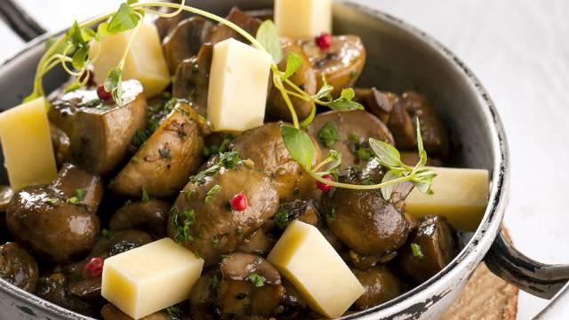 Receita Vegetariana - Cogumelos Salteados com Ervas Finas