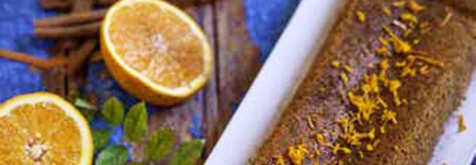 Bolo de Cenoura com laranja