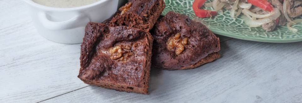 Receita Monsieur Cuisine - Quadrados de Chocolate e Noz | Cooking Classes