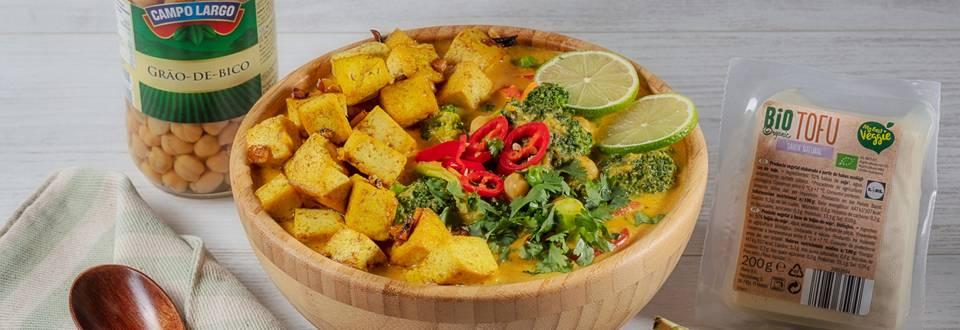 Receita Vegan - Caril de Vegetais e Tofu | Cooking Classes