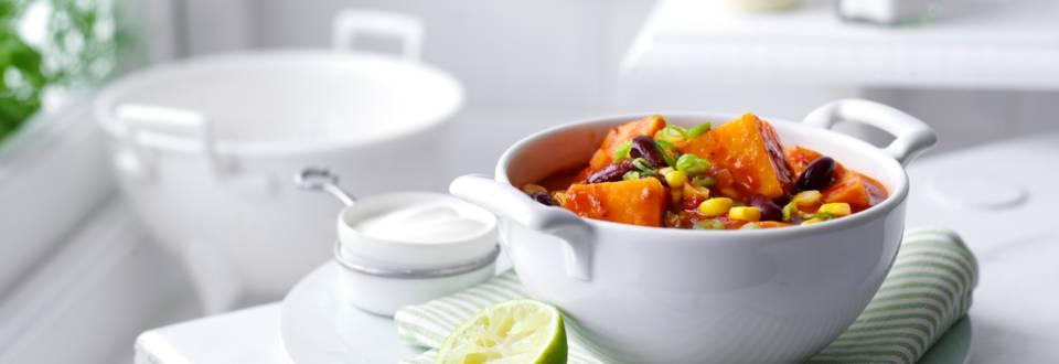 Receita Vegetariana - Chili com Batata Doce