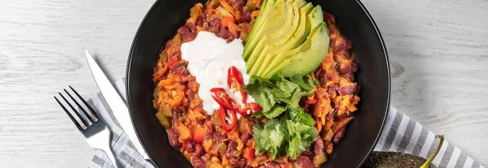 Receita de Chili vegetariano | Cooking Classes