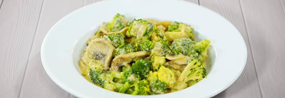 Receita Vegan - Strogonoff de Brócolos e Cogumelos   Cooking Classes