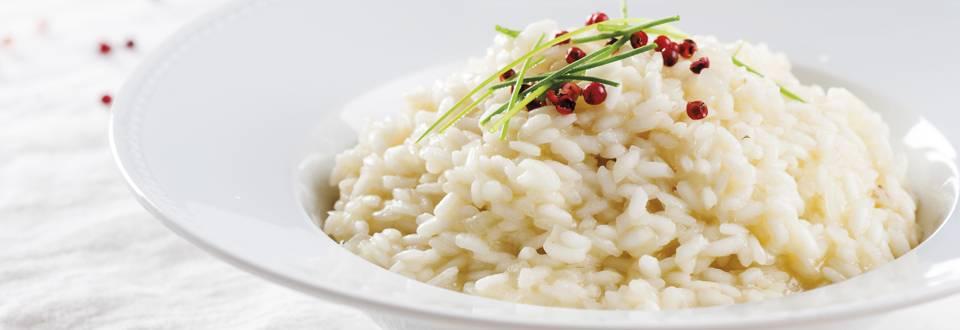 Receita Vegetariana - Risoto com Queijo de Ovelha Amanteigado