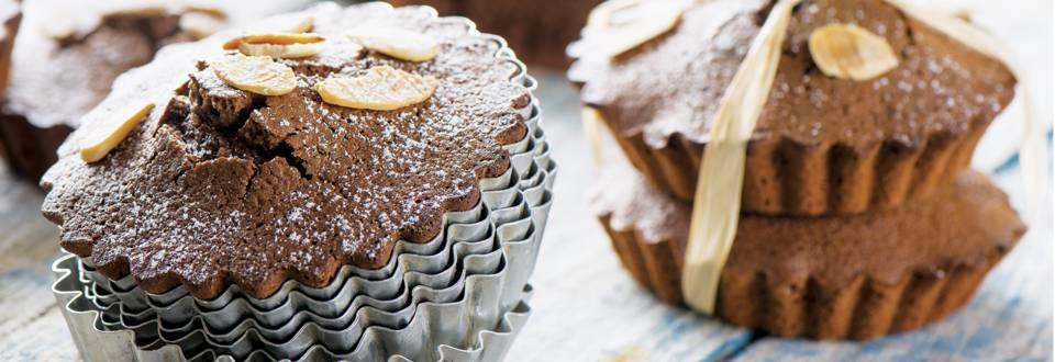 Receita Low Carb - Mini Tartes de Chocolate e Amêndoa