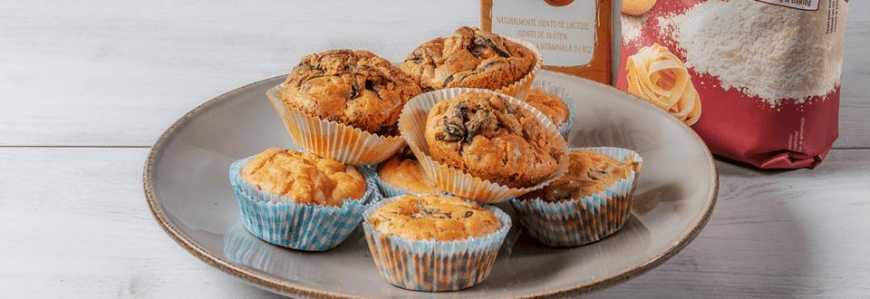 Receita Sem Glúten - Muffins de Frango e Queijo