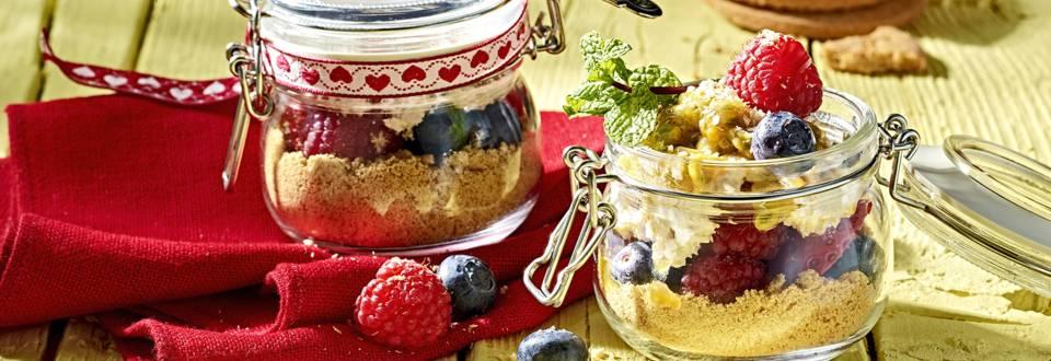 Receita Low Carb - Tiramisu Gelado com Frutos Vermelhos e Maracujá