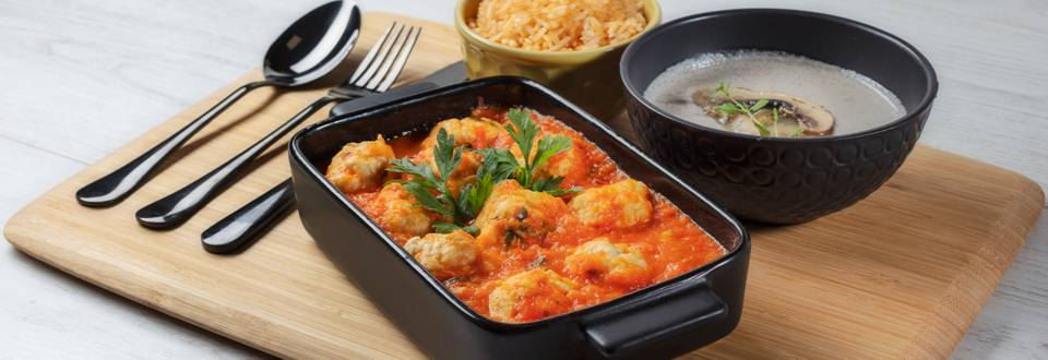Receita Monsieur Cuisine - Almôndegas de Frango   Cooking Classes