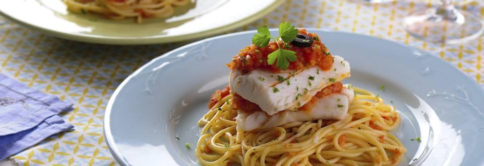 Receita Monsieur Cuisine - Pescada com Tomate e Pasta Cozida