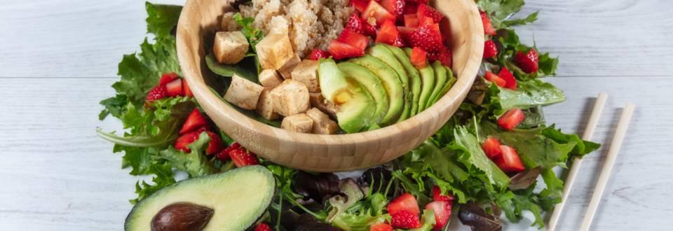Receita Bio - Bowl de Quinoa e Tofu Marinado
