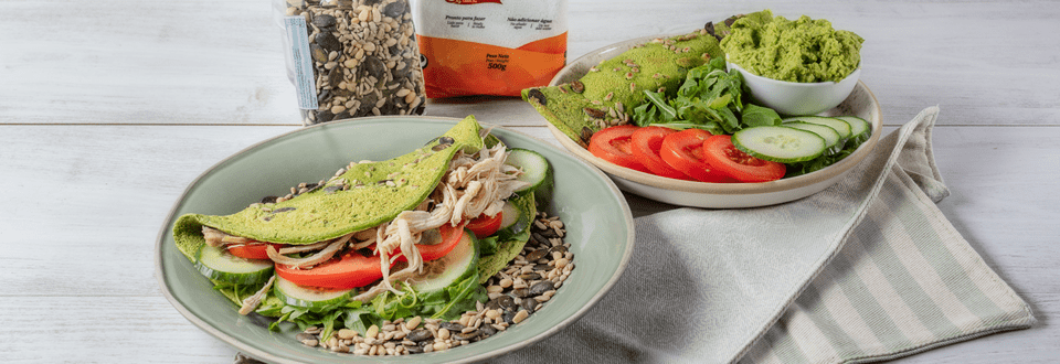 Receita Vegetariana - Crepioca de Espinafres