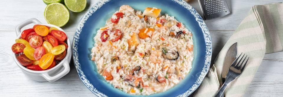Receita Arroz cremoso de marisco e peixe | Cooking Classes
